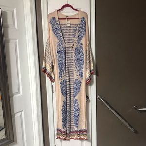 Free People Sweaters - Free People XS/S Floor Length Crochet Cardigan